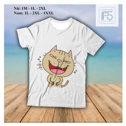Áo phông đẹp Kute  - Mèo Cười Nắc Nẻ - áo phông thun rẻ đẹp các loại