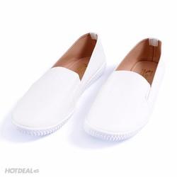 Giày Lười Nữ Khải Nam Màu Trắng