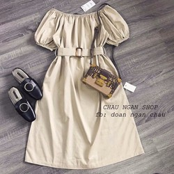Đầm maxi bệt vai