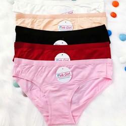 quần lót Cotton pink combo 5 cái