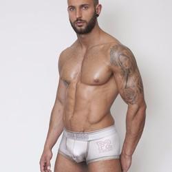 quần lót nam underwear boxer brief Pink Hero 1221 White