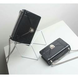 Túi xách đeo chéo DIRO drram da 3D màu đen hàng cao cấp giá sịn nhất