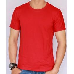 Áo thun nam trơn cotton ngắn tay - Màu đỏ