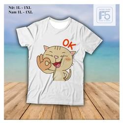 Áo phông đẹp Kute - Mèo Ok - chuyên áo phông thun rẻ đẹp các loại