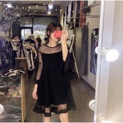Đầm Xòe Lưới Bi Xinh Lung Linh