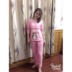 Đồ bộ bầu cotton cho con bú Made in Việt Nam