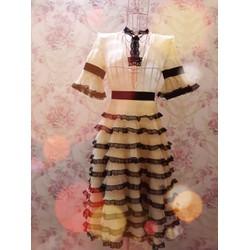 Đầm xòe 10 tầng thiết kế tay ngắn cách điệu