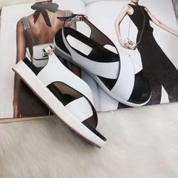 Giày sandal bánh mì quai chéo, 3cm