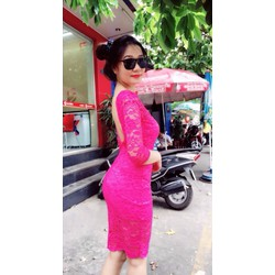 Đầm body ren hot girl