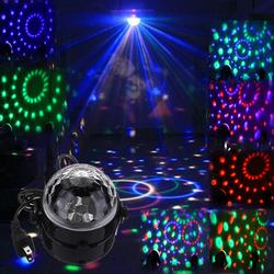 Đèn LED quả cầu xoay pha lê 7 màu và Đuôi xoay