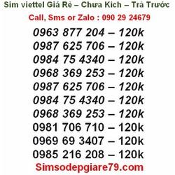 Sim Viettel giá rẻ, đầu 10 số, trả trước