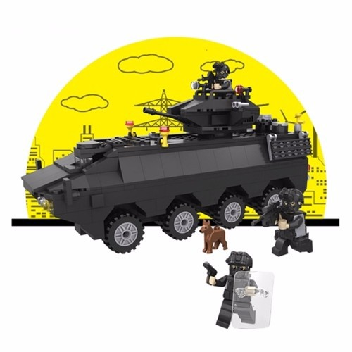 Bộ đồ chơi lắp ráp xe tăng đặc nhiệm SWAT - 6508