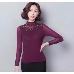 Áo dài tay pha ren nữ size M đến 3XL  - MZ607