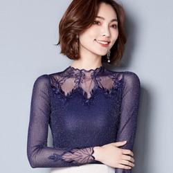 Áo dài tay pha ren nữ size M đến 3XL - giá 360k -MZ604
