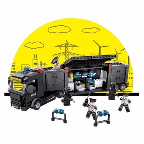 Bộ đồ chơi lắp ráp xe thông tin SWAT - 6510