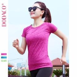 Áo thun nữ t-shirt cổ tròn tay ngắn DODACO DDC1876