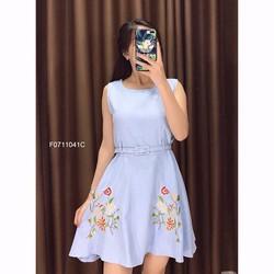 Đầm dạ thêu hoa kèm nịt hàng nhập! MS: S071121 Giá sỉ: 140k
