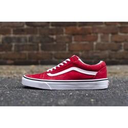 Sneaker Nam Nữ Giày Old Kool Đỏ đế Trắng|Giày cặp Couple|Thời trang