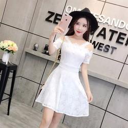 Đầm Hoa Trễ Vai Ren