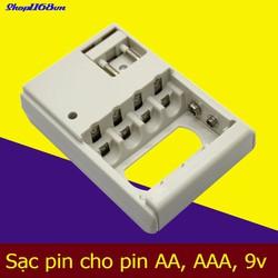 Bộ sạc pin đa năng cho pin AA, AAA và 9V