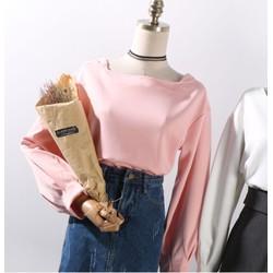 Áo kiểu nữ tay rộng đẹp mới màu hồng 2018