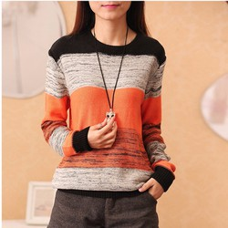 áo sweater phối màu điệu đà Mã: AK2056 - CAM