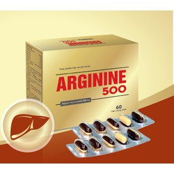 TPCN Arginine 500 - viêm gan, xơ gan, tiêu hóa kém.