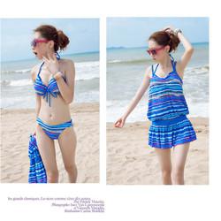 Set đồ bơi bikini 3 mảnh kèm áo ngoài_368