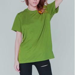 Áo thun trơn xanh rêu form rộng giá sỉ 29k khi mua 5 áo