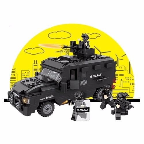 Bộ đồ chơi lắp ráp xe đặc nhiệm SWAT - 6509