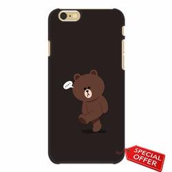 Ốp lưng nhựa dẻo Iphone 6_Gấu Brown Dễ Thương
