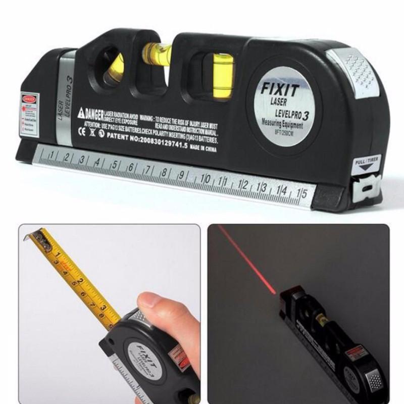 Thước ni vô laser đa năng cân bằng kèm thước kéo 2,5m 2