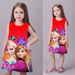 Đầm công chúa 3D hình Elsa MM015