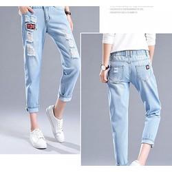quần jean rách nữ cá tính - Cam kết y hình, chất liệu đẹp