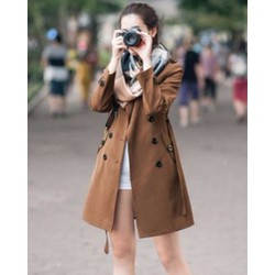 Áo Cardigant Kaki 2 Lớp Fashion