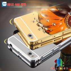 Ốp lưng Xiaomi Redmi 4A viền nhôm tráng gương