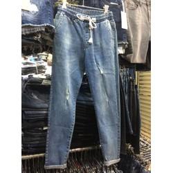 jeans lưng thun xuất khẩu from ôm nhẹ