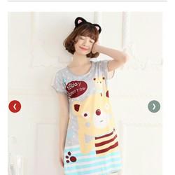 Đầm ngủ hoạt hình gấu dễ thương