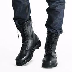 Giày lính cổ cao full da