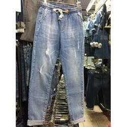 jeans lưng thun rách from ôm nhẹ