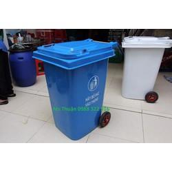 Thùng rác composite 120L có bánh xe, thùng rác giá rẻ toàn quốc.