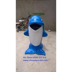Bán Thùng rác cá heo, thùng rác hình thú giá rẻ toàn quốc