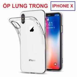 Ốp lưng dẻo trong suốt Iphone X