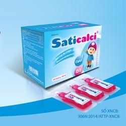 TPCN Saticalci - Bổ sung Canxi cho bé, Vitamin D3, tăng chiều cao