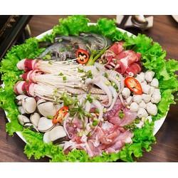 Buffet Lẩu ăn thả ga không lo về giá tại Buffet BBQ  Hot Pot Asi Deli  Hanoi Center Point Lê Văn Lương