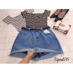 váy quần váy jeans nữ bigsize 30-32