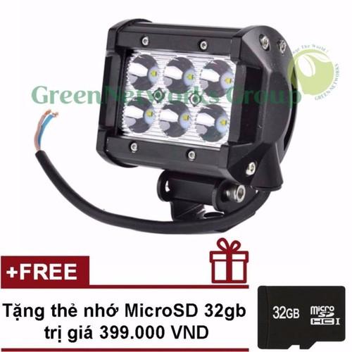 Đèn led trợ sáng xe máy phượt c6 GNG + Tặng thẻ nhớ 32gb