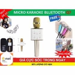 Mic Karaoke Bluetooth Q7 3in1 +Tặng micro mini hát trên điện thoại