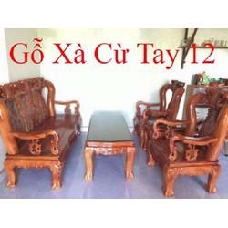 Bộ bàn ghế giả cổ minh quốc đào gỗ xà cừ