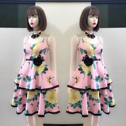 Đầm xòe 2 tầng dây cúp ngực xinh xắn